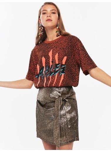 Twist Tişört Taba